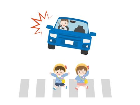 It is an illustration of a Traffic accident.