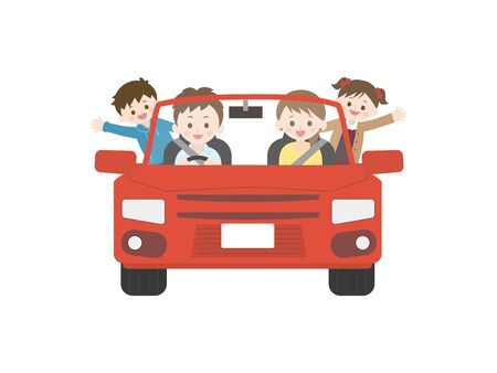 It Is An Illustration of a Driving Family.