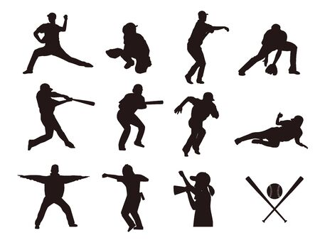 It Is An Illustration of a Baseball Silhouette. Vektorové ilustrace