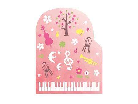 It is an illustration of a Spring music. Stock Vector - 137635557