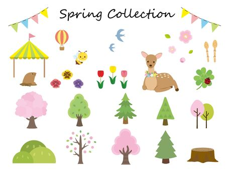 It is an illustration of a Spring collection.
