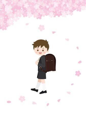 It Is An Illustration of an Entrance Ceremony Boy.