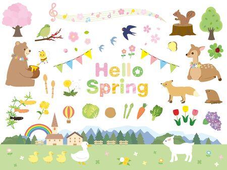 C'est une illustration d'une collection Spring.