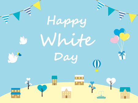 It is an illustration of a White day background. 일러스트