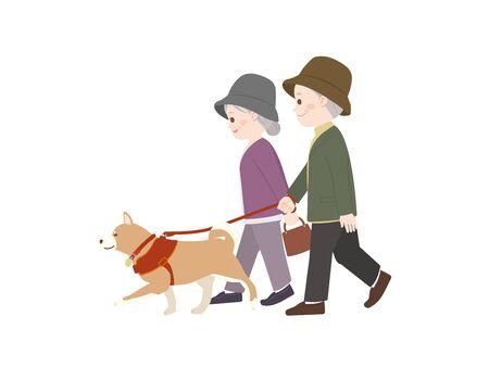It Is An Illustration of a Walking the Dog. Ilustração