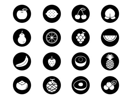 It is an of a Fruit icon set.