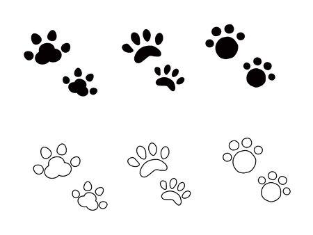Dog cat footprint.