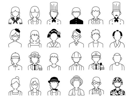 Working people icons.