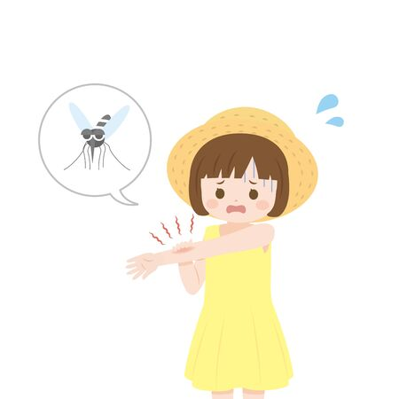 Insect bite girl.