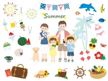 Summer family set.