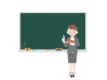 Woman teacher.