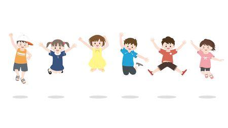 Kids jumping.