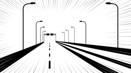 It is an illustration of a Highway background.