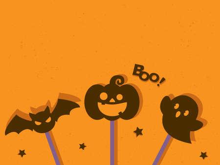 It is an illustration of a Halloween messagecard.