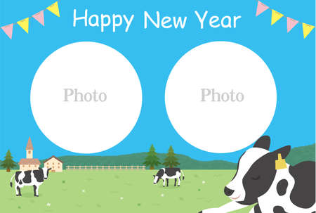 It is an illustration of a 2021 New year card design. 向量圖像
