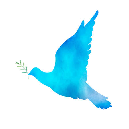 It is an illustration of a Blue bird watercolor. Vettoriali