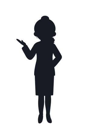 It is an illustration of a Flight attendant silhouette. 向量圖像