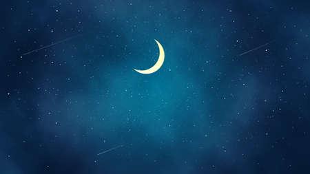 It is an illustration of a  Beautiful Night landscape. Ilustração