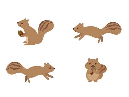 It is an illustration of a Cute Squirrel. Ilustração