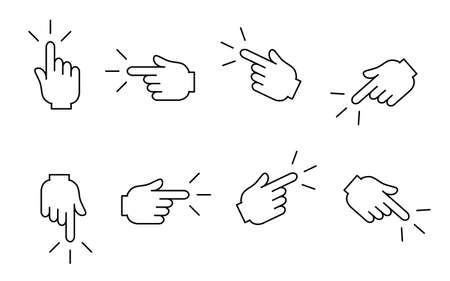 It is an illustration of a Finger point material. Ilustração