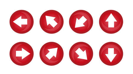 It is an illustration of a Arrow buttons material.
