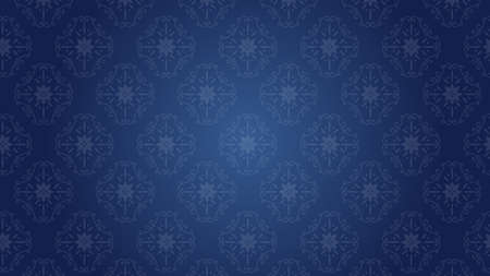 It is an illustration of a Damask background Navy blue.