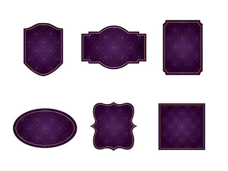 It is an illustration of a Damask frame Purple.