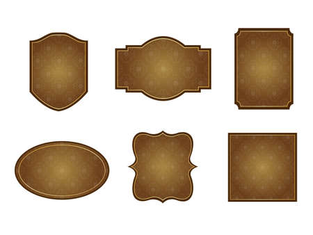 It is an illustration of a Damask frame Brown.