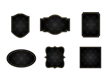 It is an illustration of a Damask frame Black.