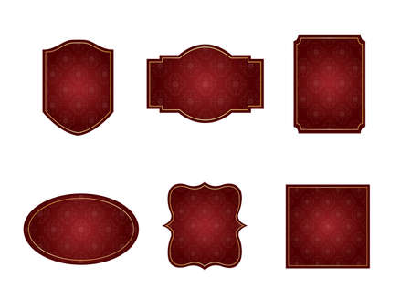 It is an illustration of a Damask frame Red.