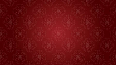 It is an illustration of a Damask background Red.