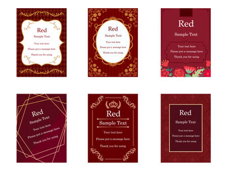It is an illustration of a Elegant cards Red.