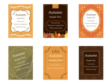 It is an illustration of a Elegant cards Autumn color.