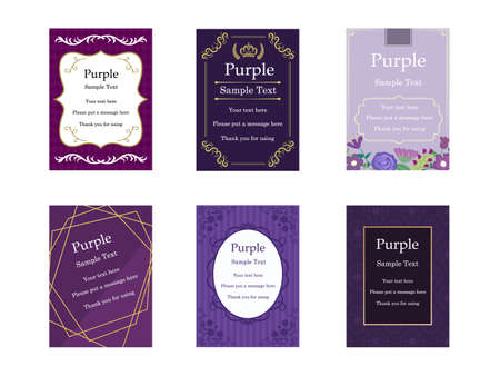 It is an illustration of a Elegant cards Purple.