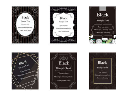 It is an illustration of a Elegant cards Black.
