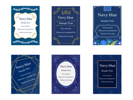 It is an illustration of a Elegant cards Navy blue.
