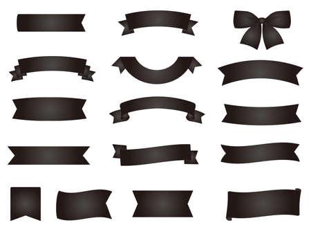 It is an illustration of a Black Ribbons material Ilustração