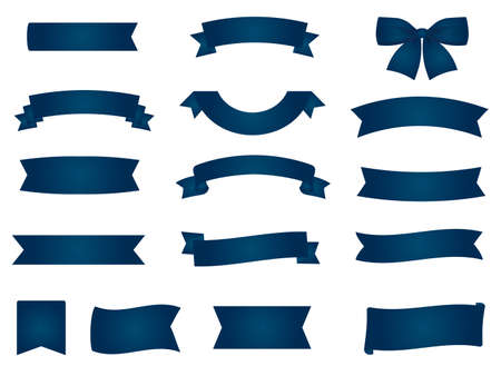 It is an illustration of a Navy blue Ribbons material