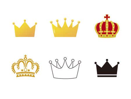It is an illustration of a Crown material set. Ilustração