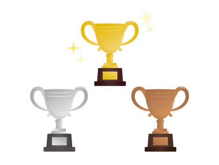 It is an illustration of a Winner Trophy material. Ilustração