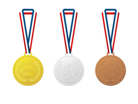 It is an illustration of a Winner medals material.