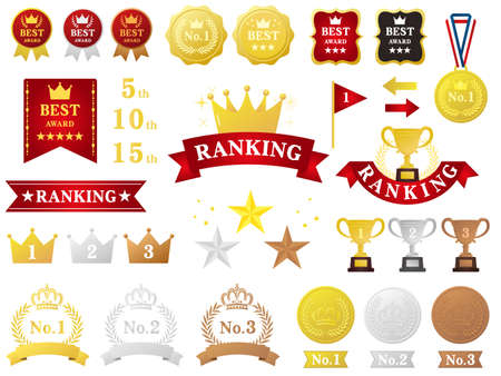 It is an illustration of a Ranking set material.