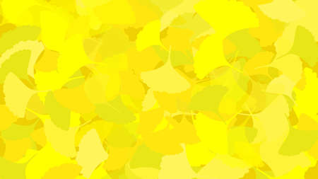 It is an illustration of a Ginkgo background material. Иллюстрация