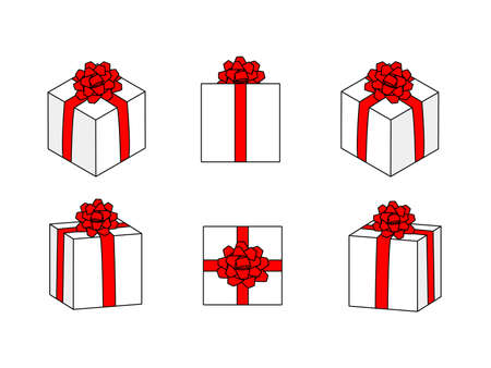 It is an illustration of a Present box material.