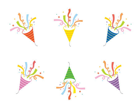 It is an illustration of a Party cracker variation set. Illustration