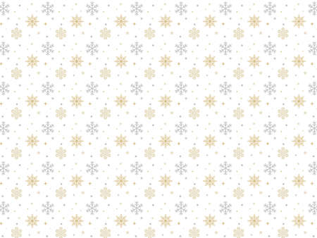 It is an illustration of a Snow crystal pattern background.
