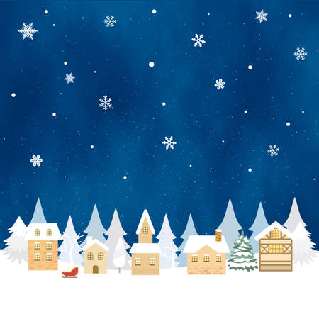 It is an illustration of a Snowy landscape background.