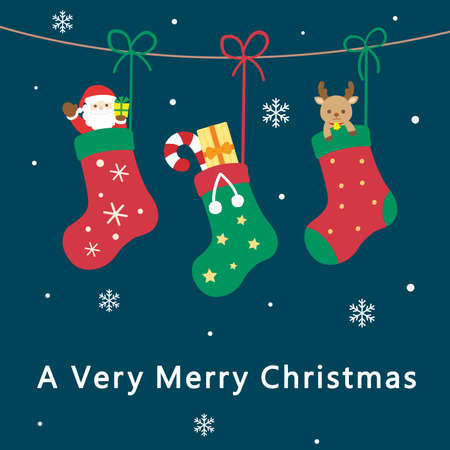 It is an illustration of a Christmas card design.