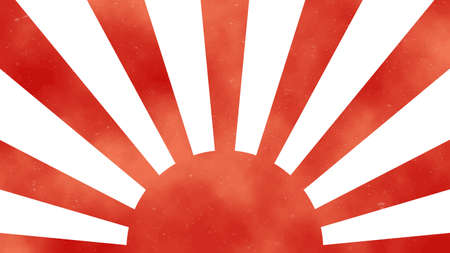 It is an illustration of a Rising Sun Flag.
