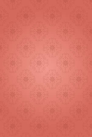 It is an illustration of a Damask pattern background Pink. Illustration